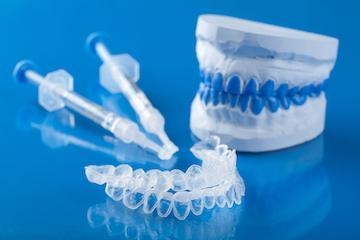 close up of teeth whitening trays | teeth whitening emmaus