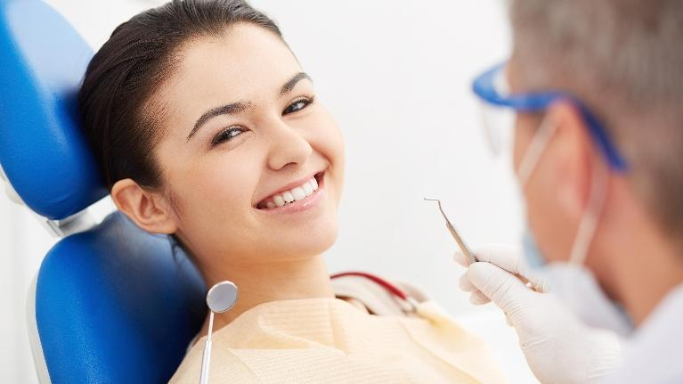 Woman at Dentist | Extractions in Allentown PA